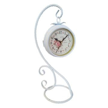 OUTDOOR or INDOOR DOUBLE SIDED CLOCK garden patio kitchen lounge free standing